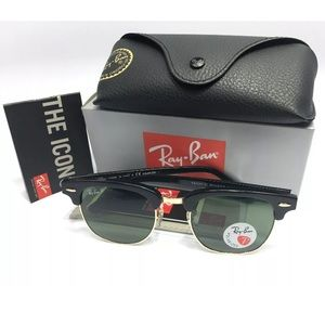 Ray-Ban Clubmaster Classic Black Polarized RB3016